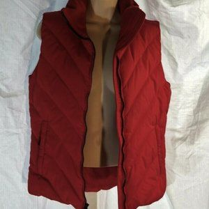 Columbia Puffer Vest Down Filled Red